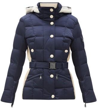 Bogner Gisa Quilted-down Shell Hooded Ski Jacket - Navy White