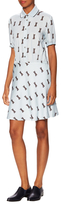 Paul & Joe Sister Sadako Cat Print Shirtdress