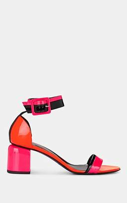 Pierre Hardy Women's Gae Colorblocked Patent Leather Sandals - Pink