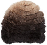 Hat Attack WOMEN'S KNITTED RABBIT FUR SKULLY-BROWN