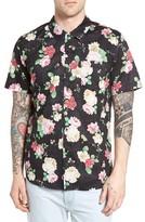 Obey Men's Moku Rose Print Woven Shirt