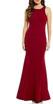 Sequin Hearts Ruffled Low V-Back Long Dress