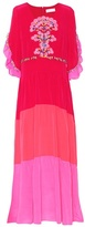 Peter Pilotto Embroidered silk maxi dress