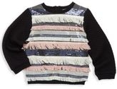 Milly Little Girl's Sequin Fringed Top