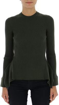 Alberta Ferretti Peplum Ribbed Sweater