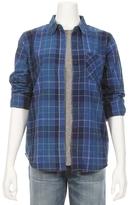 Current/Elliott Modern Prep School Plaid Shirt