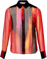 Matthew Williamson Red Calypsonian Sunset Silk Shirt