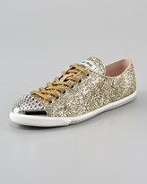 Glittered Stud-Toe Sneaker
