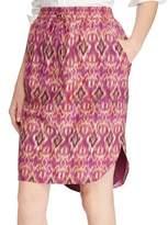 Lauren Ralph Lauren Ikat Print Crepe Skirt