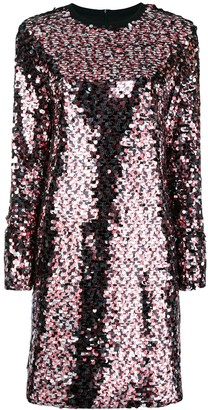 Mcq Swallow Embellished Shift Dress