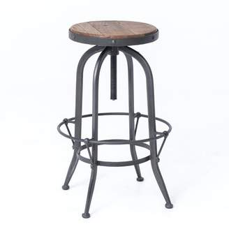 17 Stories Ludovic Adjustable Height Bar Stool 17 Stories