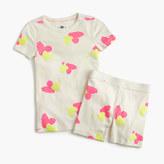 J.Crew Girls' short-sleeve pajama set in painted hearts