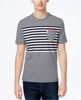 Ben Sherman Men's Slim-Fit Engineered Stripe T-Shirt
