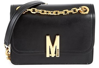 Moschino Chain-Strap Leather Bag