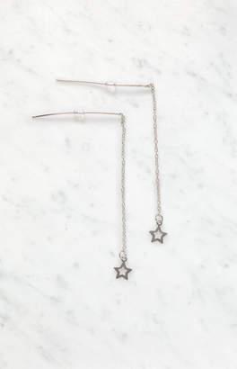 La Hearts Hollow Star Drop Earrings