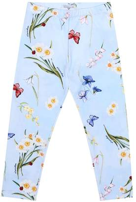 MonnaLisa Floral stretch-cotton leggings