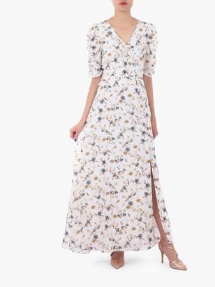 Jolie Moi Puffy Sleeved Maxi Dress