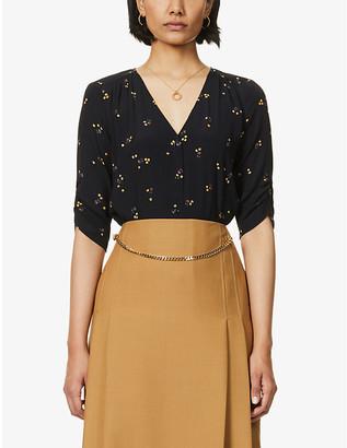 Sessun Anako floral-print crepe blouse