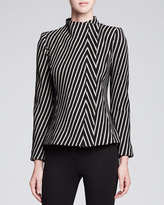 Armani Collezioni Asymmetric Striped Jacket