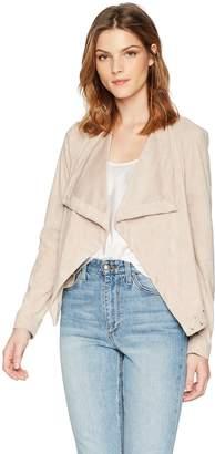 BB Dakota Women's Arly Drape Front Faux Suede Jacket
