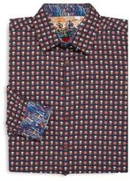 Robert Graham Big & Tall Macbeth Long-Sleeve Cotton Sportshirt