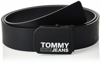 Tommy Jeans Men's Tjm Plaque Leather Belt 4.0