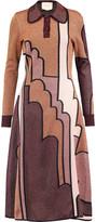 Roksanda Allington metallic intarsia-knit midi dress