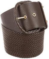Michael Kors Logo Woven Waist Belt