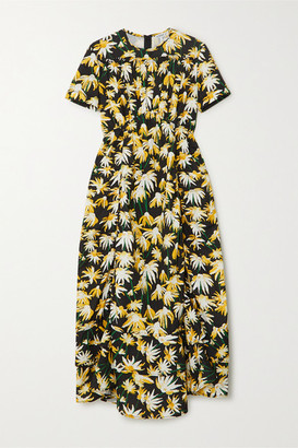 Loewe Floral-print Cotton Midi Dress - Yellow