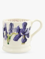 Emma Bridgewater Blue Iris Half Pint Mug, 280ml, Purple/Multi