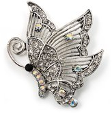 Avalaya Crystal Filigree Butterfly Brooch ( Tone)