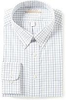 Roundtree & Yorke Gold Label Big & Tall Non-Iron Regular Full-Fit Windowpane Pinpoint Dress Shirt