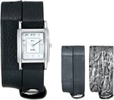 La Mer Women's LMGB1002 Gift Box Collection Gunmetal,Black,Silver Tie Dye Watch