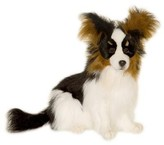 The Well Appointed House Hansa Toys Stuffed Black Papillion-