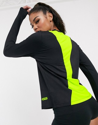 Asos 4505 4505 long sleeve tee with contrast mesh back