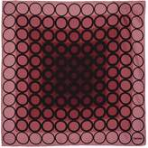 Tom Ford Circle Print Pocket Square, Red, One Size