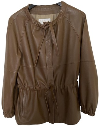Chloé Camel Leather Leather Jacket for Women