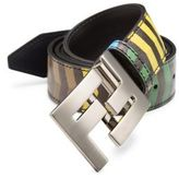 Fendi Double F Chevron Leather Belt