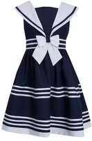 Bonnie Jean Girls White & Sailor Dress