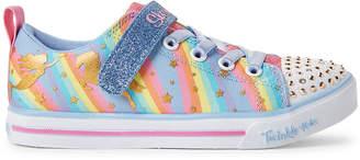 Skechers Twinkle Toes By Kids Girls) Rainbow Sparkle Lite Light-Up Sneakers