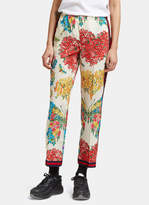 Gucci Women's Corsage Print Silk Pyjama Pants in Ivory