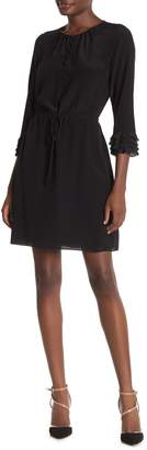 Rebecca Taylor Ruffle 3/4 Sleeve Dress