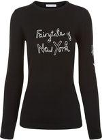 Bella Freud Black Fairytale of New York Jumper