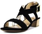 Me Too Marsel Women Open Toe Suede Black Sandals.