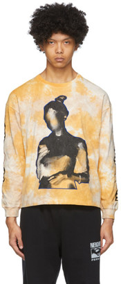 Perks And Mini Yellow Tie-Dye Oversized DNA Long Sleeve T-Shirt