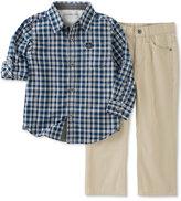 Calvin Klein Little Boys' 2Pc Woven Shirt Set