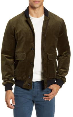 Oliver Spencer Lockton Slim Fit Corduroy Bomber Jacket