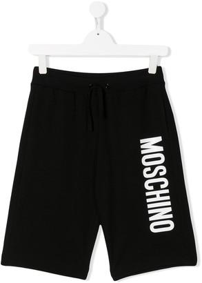 Moschino Kids jersey logo shorts