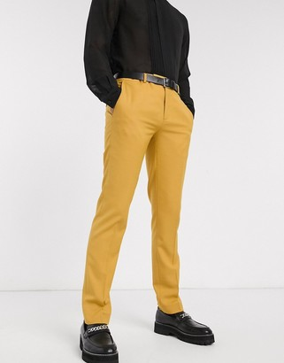 Twisted Tailor Hemmingway suit trousers in dark yellow
