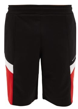 Givenchy Panelled Technical-blend Track Shorts - Mens - Black Multi